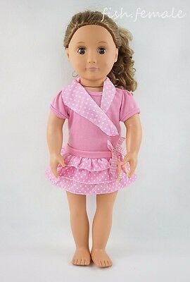 Pink Three Layer Miniskirt Dress Fit For 18'' American Girl Doll Clothes Gifts