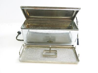 Vintage Castle Sterilizer With 2 Tray Inserts Stainless Steel