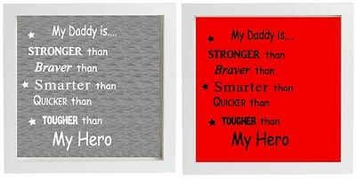Vinyl Sticker fits 20 x 20cm MY DADDY IS A SUPER HERO - or Choose Own Name