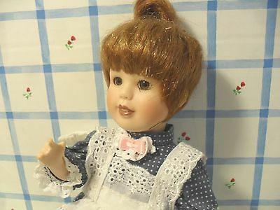 "8"" All Bisque Artist Made Girl Doll ""t.c. 1997"" Ooak W/original Clothing Sweet"