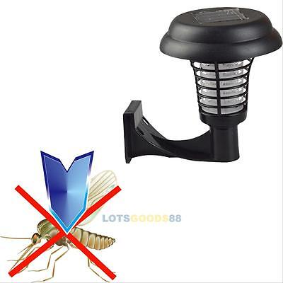 Solar Powered UV Outdoor Hanging LED Light Mosquito Insect Pest Zapper Killer