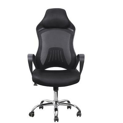 High Back Race Car Style Bucket Seat Office Desk Gaming Chair Adjustable Mesh US