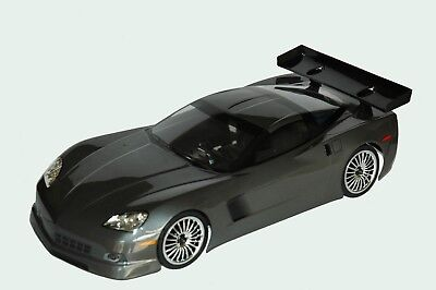 1:10 RC Clear Lexan Body Corvette C6 200mm Nitro or Electric Colt for Tamiya HPI