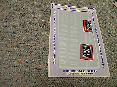 Microscale  decals G 24-19 Burlington 40' box car  - 2 sheets   F134