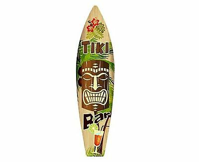 """Surf Board Metal Novelty Surfboard Sign 17"""" x 4.5"""" Wall Decor - Several Styles!"""