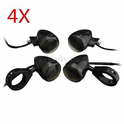 4x Front Rear Motorcycle LED Turn Signal Indicator Light For Harley Chopper
