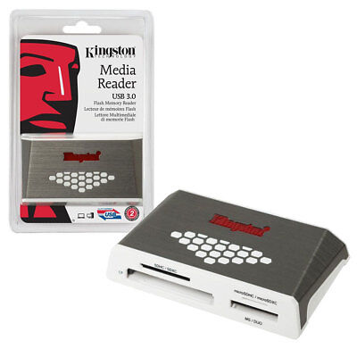 Kingston USB 3.0 Super Fast Media Memory Card Reader FCR-HS4 with USB Cable