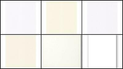 Craft UK A4 Card Ivory White Various Finishes 100 Pack 300 gsm