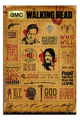 36x24 inches Framed The Walking Dead City Maxi Poster 61 x 91.5 cm