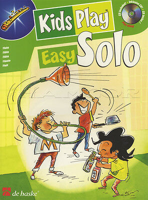 Kids Play Easy Solo Flute Sheet Music Book with Play Along CD