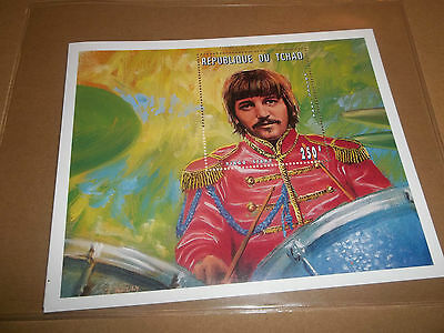 Beatles Official Chad Stamp With Coa Ltd Ed ( Ringo Starr )