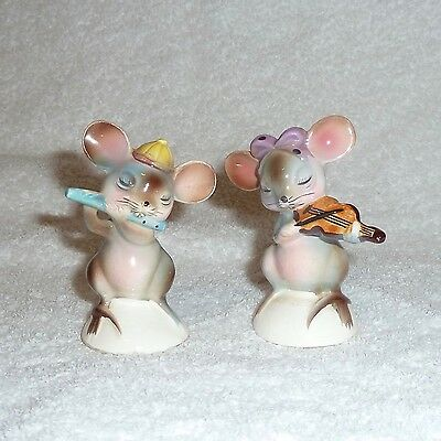 Vintage PY Japan Anthropomorphic Mice Mouse Salt and Pepper Shakers