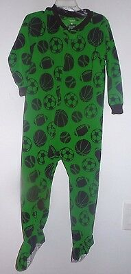 fbd57a5d01 boys size 4T CARTERS green BLANKET SLEEPER FOOTBALL sports sleepwear 1 pc  CUTE!