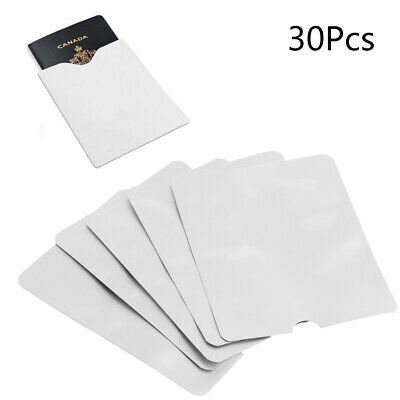5Pcs RFID Passport Holder Blocking Protector Case Shield Credit ID Card Cover
