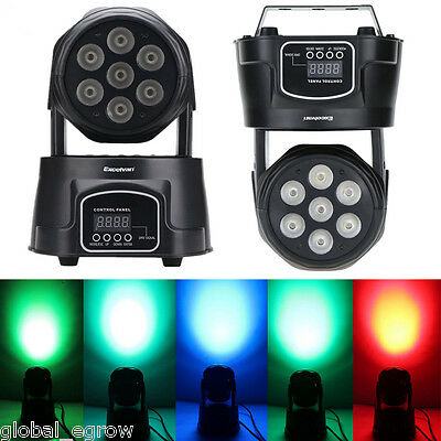 70W RGBW 4in1 LED Moving Head Light DMX Spot DJ Club Disco Stage Party Lighting