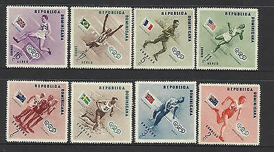 DOMINICAN REP 1956 MELBOURNE OLYMPIC GAMES Set 8v GOLD MEDAL WINNERS Perf MNH