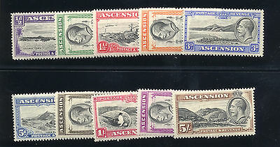 Ascension - British Commonwealth - 1934 Sc. #23-32 Mint NH