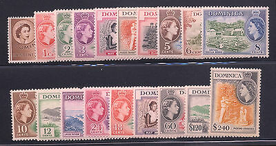 Dominica - British Commonwealth - 1954 Sc. #142-156 Mint NH