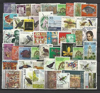 SRI LANKA STAMP COLLECTION & PACKET of 50 DIFFERENT Used Stamps NICE SELECTION