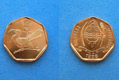 Botswana TOKO BIRD 5 Thebe Coin 1998, Uncirculated Red, 16.8mm,Combined Shipping