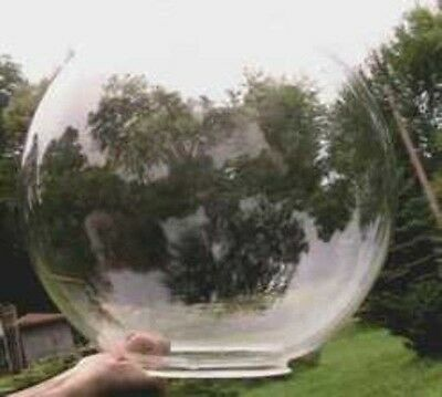 "Acrylic Globe 14"" Clear Sphere With 6.375"" Hole  S11694-1"