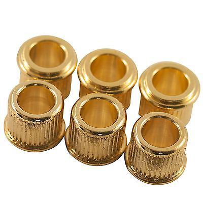 6 Gold Conversion Adaptor Bushings for Genuine Kluson/Gotoh Tuners