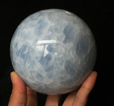 1580g NATURAL BLUE CALCITE CRYSTAL SPHERE BALL HEALING