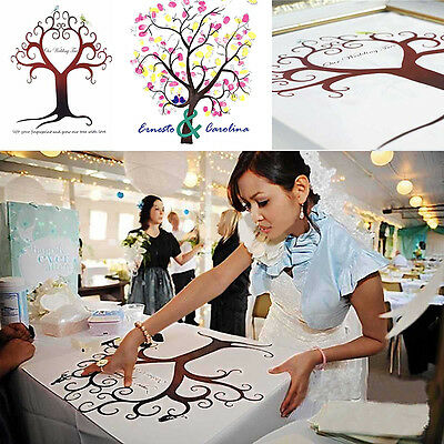 Personalised Wedding Fingerprint Tree Guest Book Signature Thumbprint Ink Pad