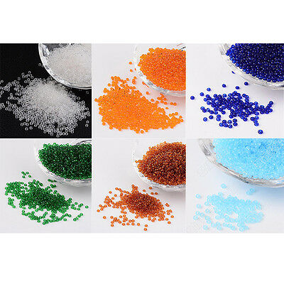 50g 11/0 Round Transparent Glass Seed Beads DIY Jewelry Making about 3300pcs/50g