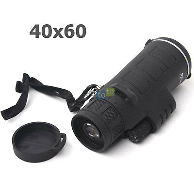 40X60 Focus Zoom Portable Travelling Surveillance HD OPTICS Monocular Telescope