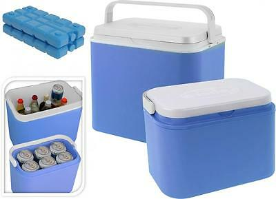 10Lt or 24Lt Family Insulated Cool Box Cooler Party Picnic Beach Ice Brick Block