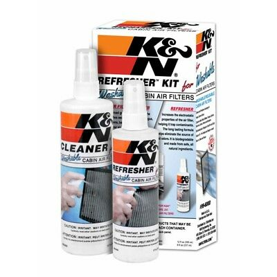 Cabin Pollen Interior Air Filter Cleaning Care Refresher Kit K and N 99-6000 K&N