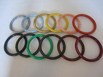 """Lot of 12 Assorted 4"""" Round Plastic Macrame Marbella Rings Craft Supplies DIY"""