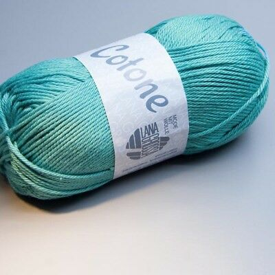Lana Grossa Cotone 043 light clear blue 50g Wolle