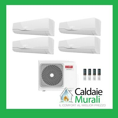 Climatizzatore Riello Inverter Quadri Split Aaria Plus 9+9+9+12 Btu Multi 485 P
