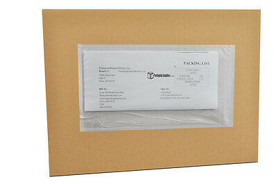 "1500 9 x 12 Clear Re-closable Packing List Envelopes 9"" x 12"" Back Side Load"