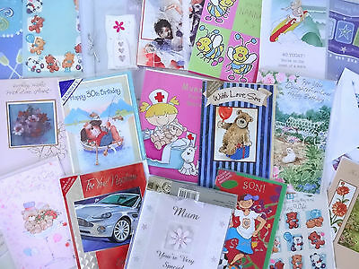 5 Greeting Cards Quality Birthday Occasions Mixed Bundle Pack With No Envelopes