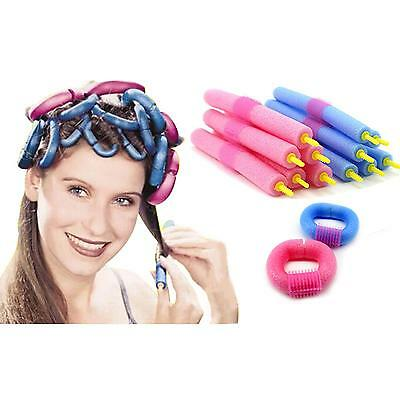 12Pcs Magical Anion Hair Curler Soft Sponge Hair Care Styling Roll Stick Roller