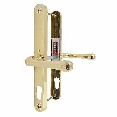 Hoppe Fullex 68pz Brass Lever Door Handle Sprung Set Pair UPVC 245mm Fixing 68mm
