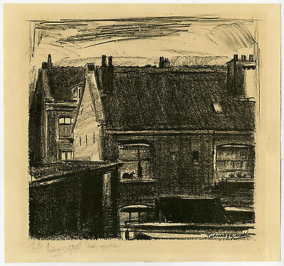 Antique Print-HOUSE-WORKSHOP-VIEW-Wijngaerdt-ca. 1930