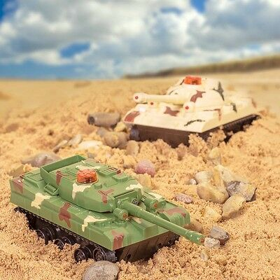 Set Of 2 Remote Control Infrared Target Shooting Battle Tanks Toys Game 21141