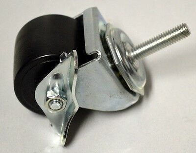 "2"" x 1 5/8"" Threaded Stem, Stem 3/8- 16 x 1 1/2"" - Locking Caster - Duraplas Whe"