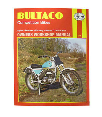 Haynes Manual No. 0219 Motorbike/Motorcycle for Bultaco Frontera 250 72-75
