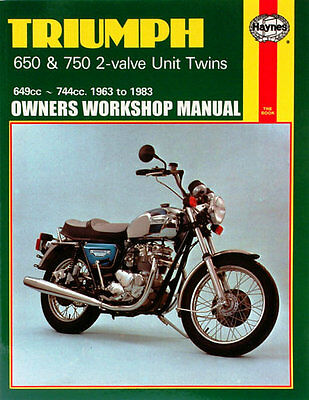 Haynes Manual No. 0122 Motorbike/Motorcycle for Triumph T120 Bonneville 63-72