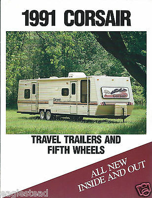 Travel Trailer Brochure - Thor Corsair - Product Line Overview - 1991 (MH10)