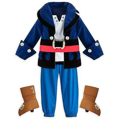 Disney Store Captain Jake & the Neverland Pirates Boys Costume sz 2 3 4 5/6 7/8