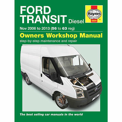 Ford Transit Haynes Manual 2006-13  2.2 2.4 TDCi Diesel Workshop Manual