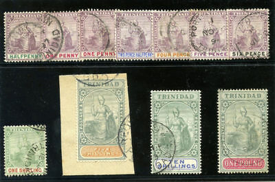 Trinidad 1896 QV set complete very fine used. SG 114-124.