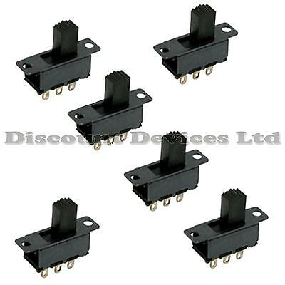 Quality 6P DPDT Slide Switch on-on 2 Circuits