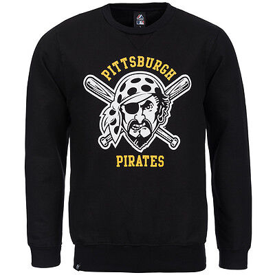Pittsburgh Pirates Majestic Jameson Crew Sweatshirt MLB Baseball Sweat Shirt neu